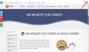 Wyłączanie cookies Internet Explorer- otwórz menu