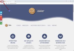 Wyłączanie cookies Opera - wybierz menu